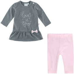 Set Tunika und Leggings love u too Feetje Babymode