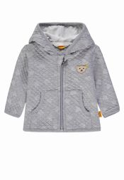 Babyjäckchen Teddyprint Winter Grey Steiff