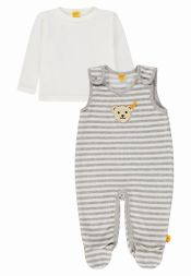 Set Strampler + Shirt Winter Grey Steiff Babymode