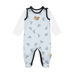 Set Strampler + Shirt Teddies allover Junge Steiff